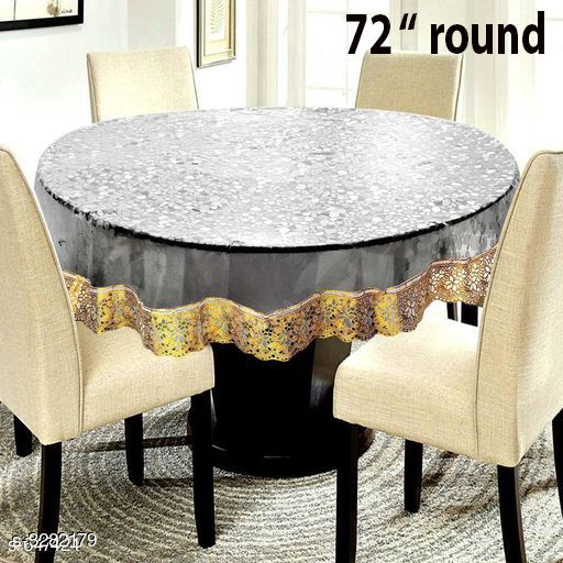 """6 Seater 3D Gold 72"""" Round"""