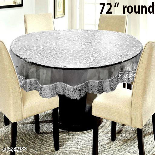 """6 Seater 3D Silver 72"""" Round"""