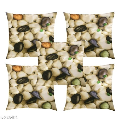 Trendy 3D Digital Printed Multicolor Imported Knitting Cushions Cover (Set of 5)