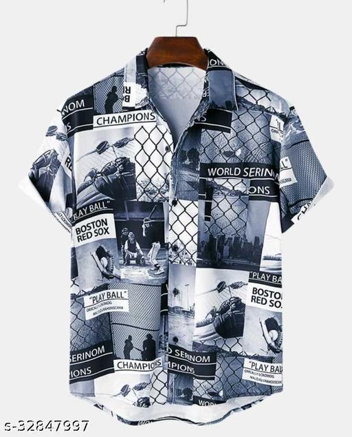 Rayon Printed Casual Men's Shirt