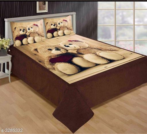 Stylish Velvet Printed Double Bedsheets