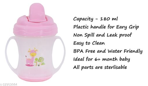 Tiny Tycoonz Attractive Baby Sipper with Cartoon Printed (180 ml)