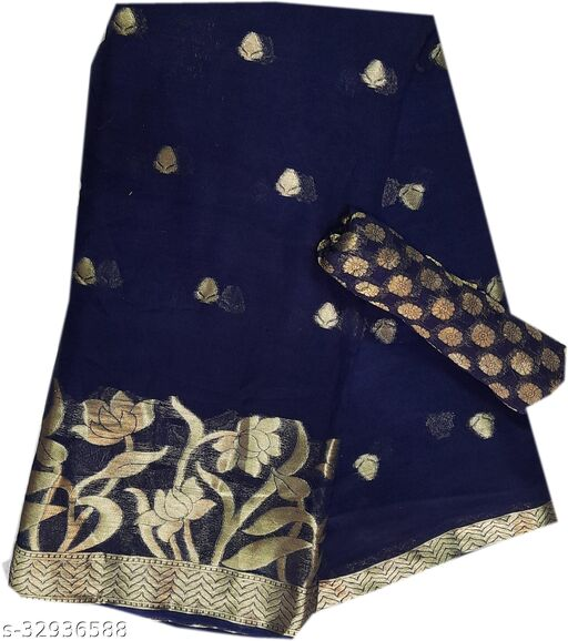 Women;s viscos pure georget saree with blouse peice