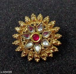 Women's kundan And Gold Plated Rings