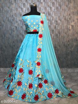 Stylish Taffeta Silk Women's Lehenga
