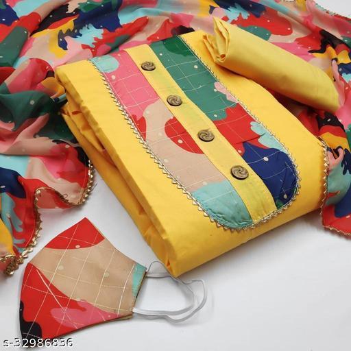 Purvanshi Impex Poly Cotton Unstitched Salwar Suit Material