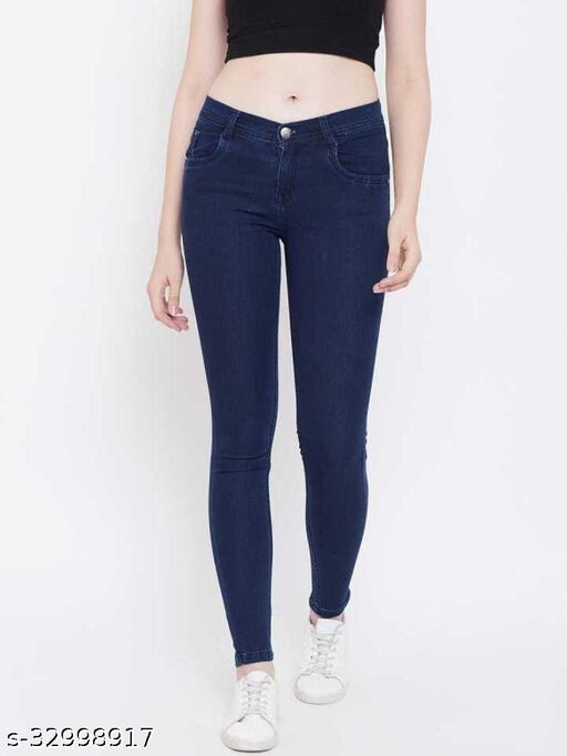 Trendy Skinny Women Light Blue Jeans