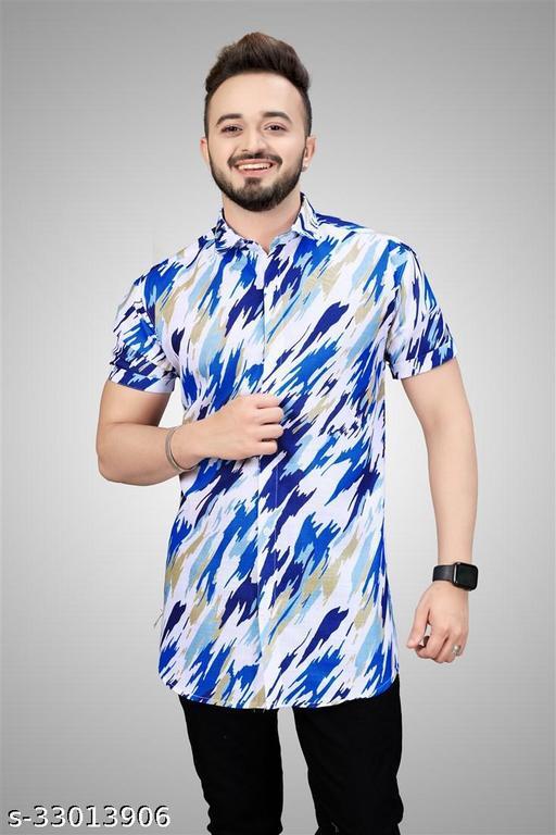 Charity Fashion Casual Half Sleeve Cotton Blend Printed Shirt