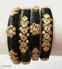 Ladies Classy Silk Thread Bangles (Set Of 2 )