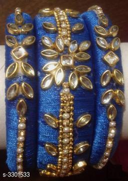 Ladies Classy Silk Thread Bangles (Set Of 5)