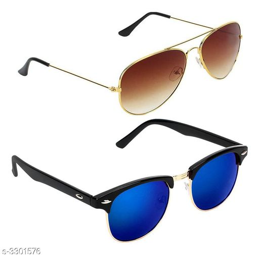 Trendy Men's Metal Sunglasses Combo
