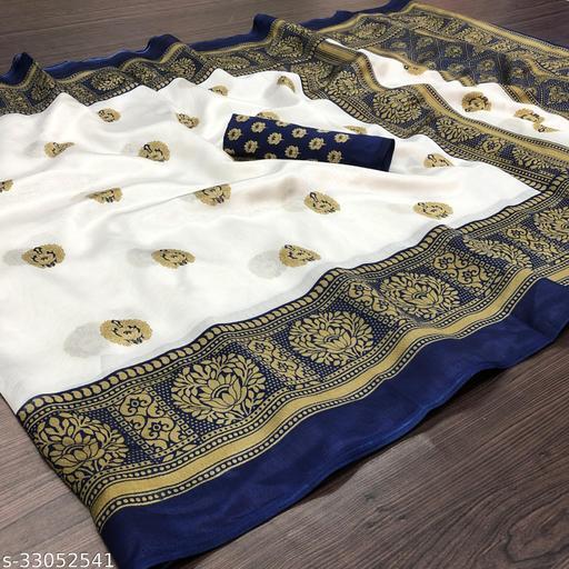 Beautiful Art Silk Printed Saree With Blouse Piece
