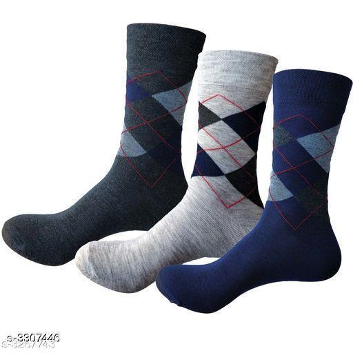 Trendy Cotton Men's Socks