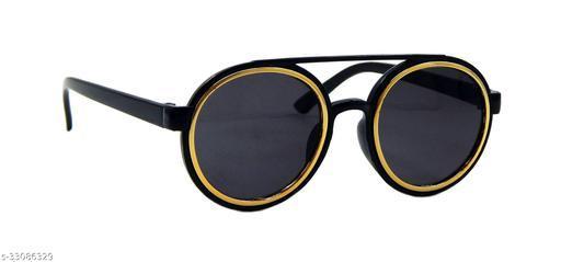 Els Boys & Girls, Unisex Sunglass, Round, Golden-Black (3050-BL-GD-BL-BL-S)