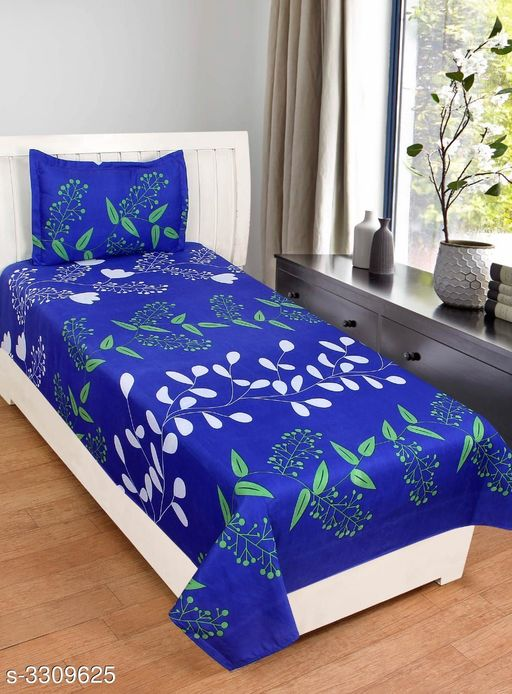 Comfy Poly Cotton Printed Single Bedsheets