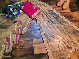 Trendy Women's Heavy Net Saree