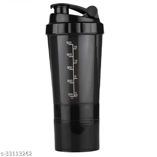 Spectrum Shaker Bottle 500 ml/Gym Bottle/Sports Bottle/Protein Shaker Bottle, Leak Proof, Sleek Design & Easy to Carry (Comes with Lid, Mixer & Extra Compartment)