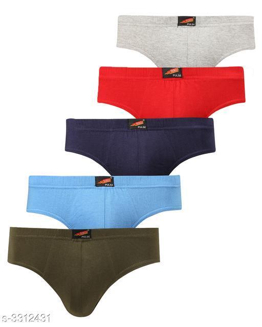 Comfy Men's Cotton Solid Briefs (Pack Of 5)