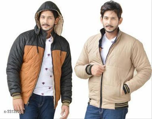 Trendy Polyester Men's Reversible Jacket