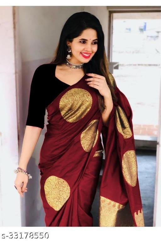 Beautiful soft lichi silk with Jacqaurd Work  rich pallu