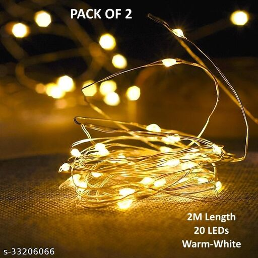 2m 20LED Battery Powered Fairy Light (Pack of 2)