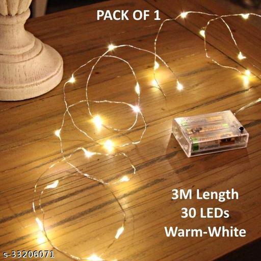 3m 30LED Battery Powered Fairy Light (Pack of 1)