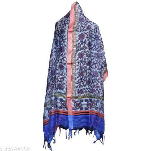 Trendy  Print Pure Tussar  Silk Dupatta