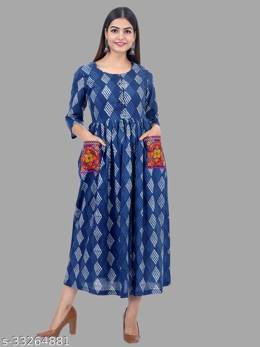 Womens cotton Embroidery kurta kurta