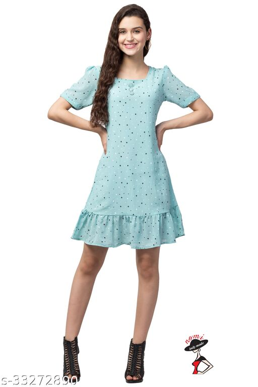 dress tops print small dot light color and multicolor