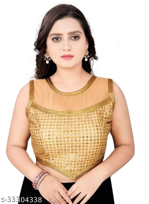 Sleevless Stiched Redyment Blouse