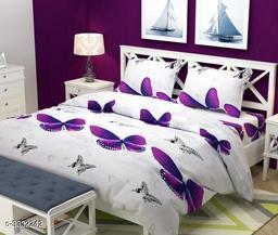 Stylish Printed Cotton Double Bedsheet