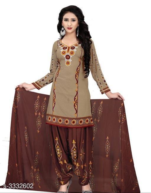 Jivika Ravishing Cotton Printed Salwar Suits & Dress Materials