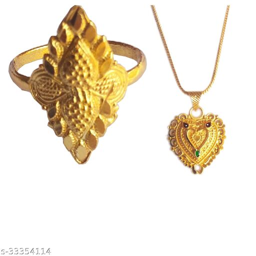 Elite Glittering Rings and necklace & chain