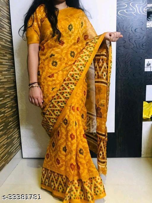 Achira Tex Printed Cotton Zari Patta Saree
