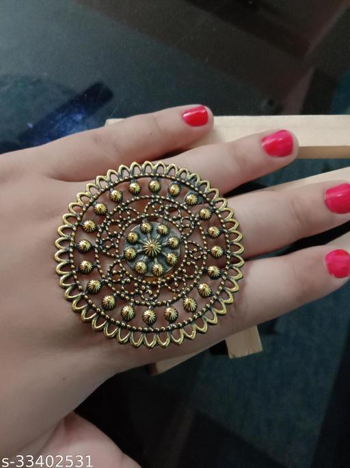 Beautiful Oxidised Adjustable Ring
