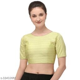 Fab Dadu Women's Jacquard Off White Blouse With Boat Neck  (BL-20082-Off_White )_Free_Size
