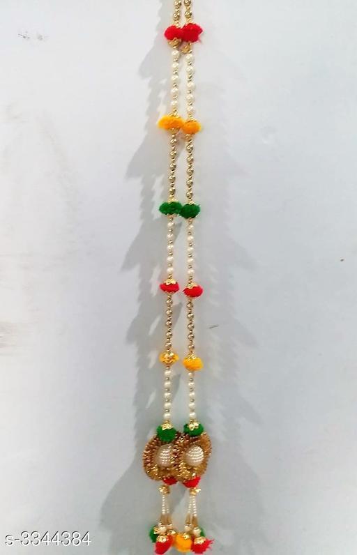 Toran & Wall Hangings Home Fancy Dream Diwali Door Hanging  *Material* Beads, Flowers   *Size* 42 in   *Description* It Has 2 Piece Of Diwali Door Hangings   *Work* Beads Work  *Sizes Available* Free Size *    Catalog Name: Diya Home Fancy Dream Diwali Door Hangings Vol 15 CatalogID_463151 C128-SC1318 Code: 294-3344384-