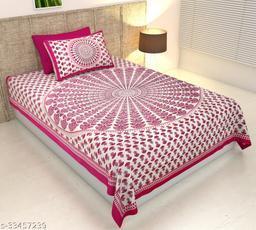 Sanganeri Jaipuri Printed Single Bedsheet with 1 Pillow Cover(63*90)