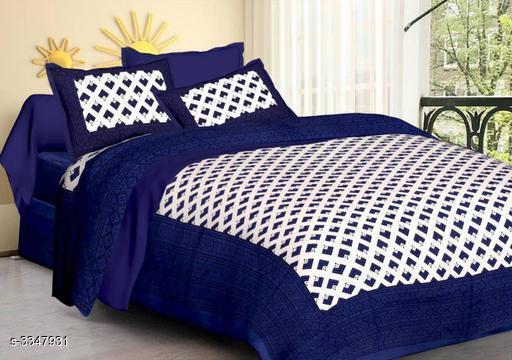 Trendy Decorative Cotton Printed Double Bedsheet