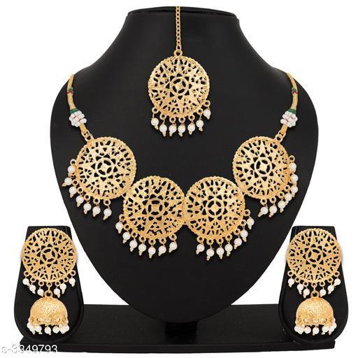 Jewellery Set Elegant Trendy Women's Jewellery Sets  Elegant Trendy Women's Jewellery Sets  *Sizes Available* Free Size *    Catalog Name: Elegant Trendy Women's Jewellery Sets Vol 1  CatalogID_463980 C77-SC1093 Code: 454-3349793-