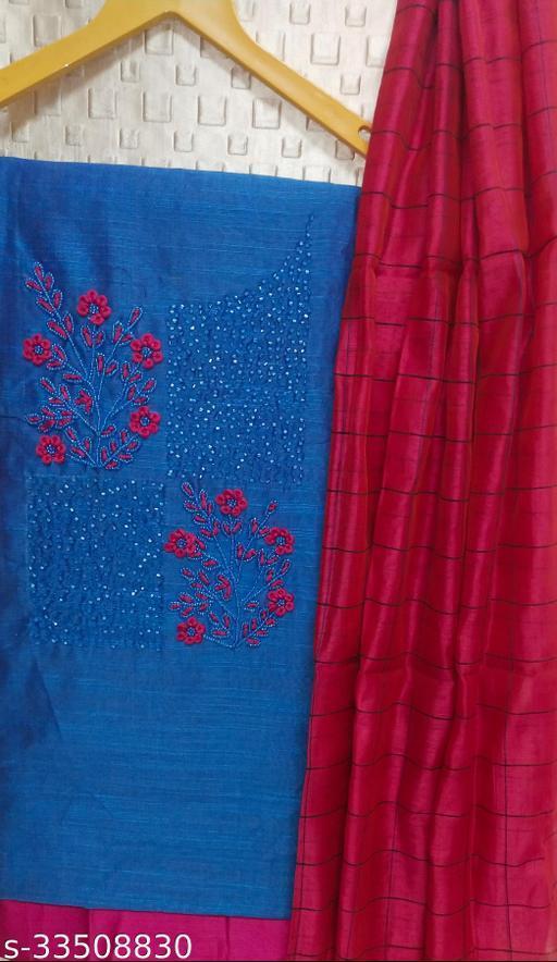 Trendy Silk Blend  Salwar Suits & Dress Materials