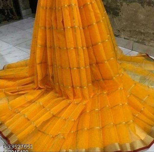 Trendy Kota Doriya Cotton Women Sarees