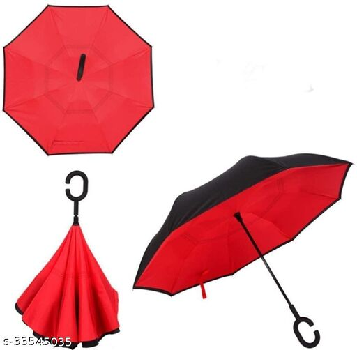 Double Layer Automatic Inverted Reversible No Drip Umbrella with C Shape Handle (Multi)