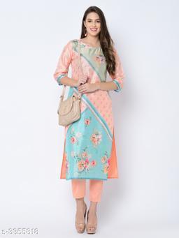 Stylish Art Silk Women's Straight Kurti