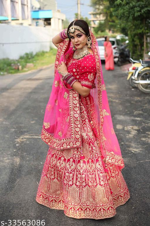 Maroon Colored Party Wear Lehengha Choli With Embrodariy Work -LC275