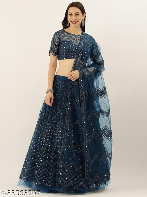 Blue n Yellow Colored Lehengha Choli With Embrodariy Work -LC18