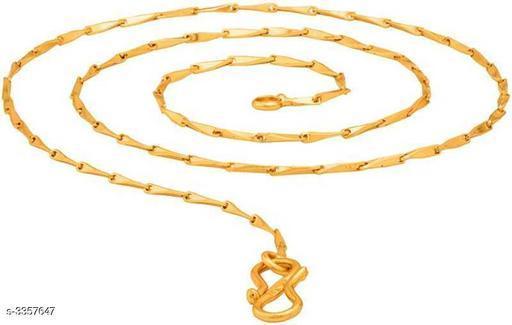 Stylish Men's Golden Brass Chain