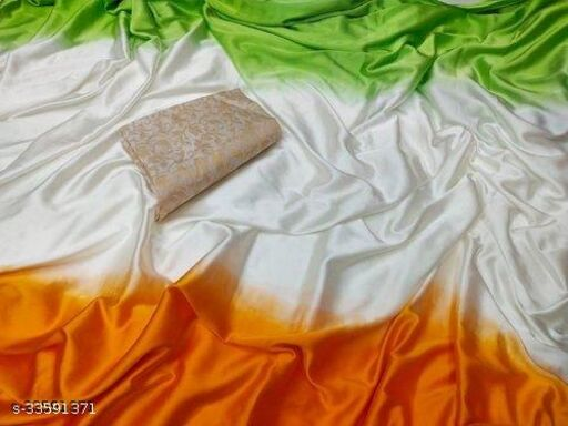 Indian Flag Sarees for Function Wear