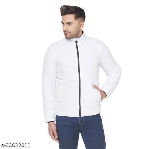 Men Regular Fit Full Sleeves Padded Jacket White