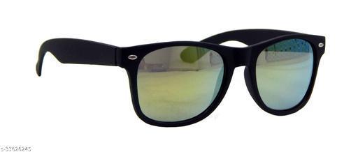 Els Men & Women, Unisex Sunglass, Rectangular, Black (55832-MRCR-BL-YL)